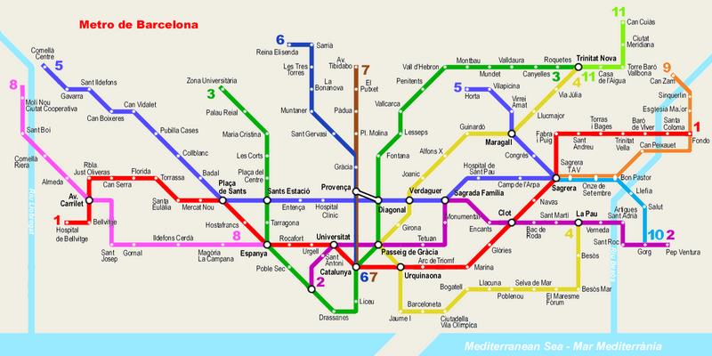 Барселона на общественном транспорте