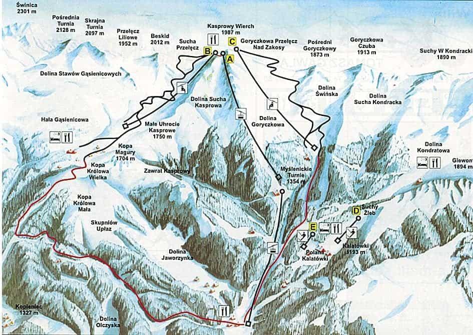 Kasprowy Wierch - горнолыжный курорт в Польше