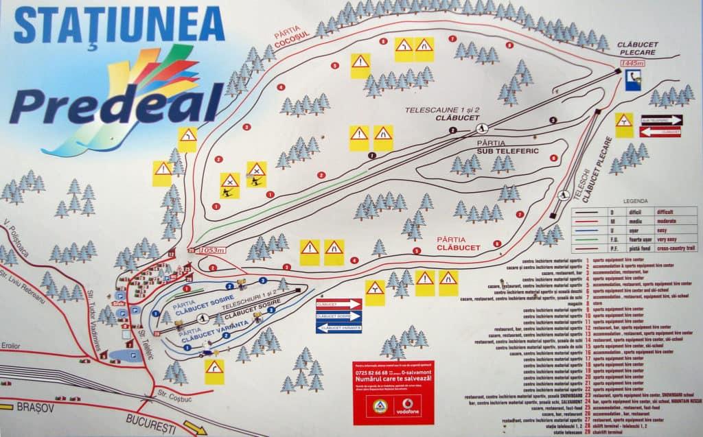 Карта курорта Предял