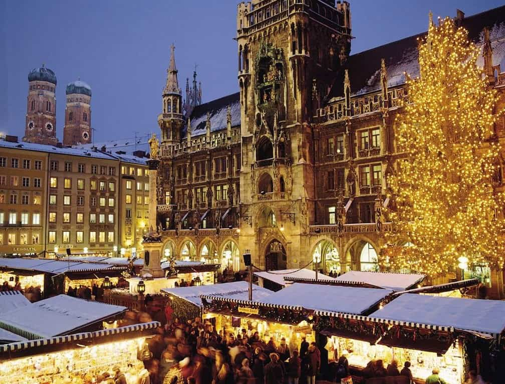 Мариенплатц, Мюнхен зимой