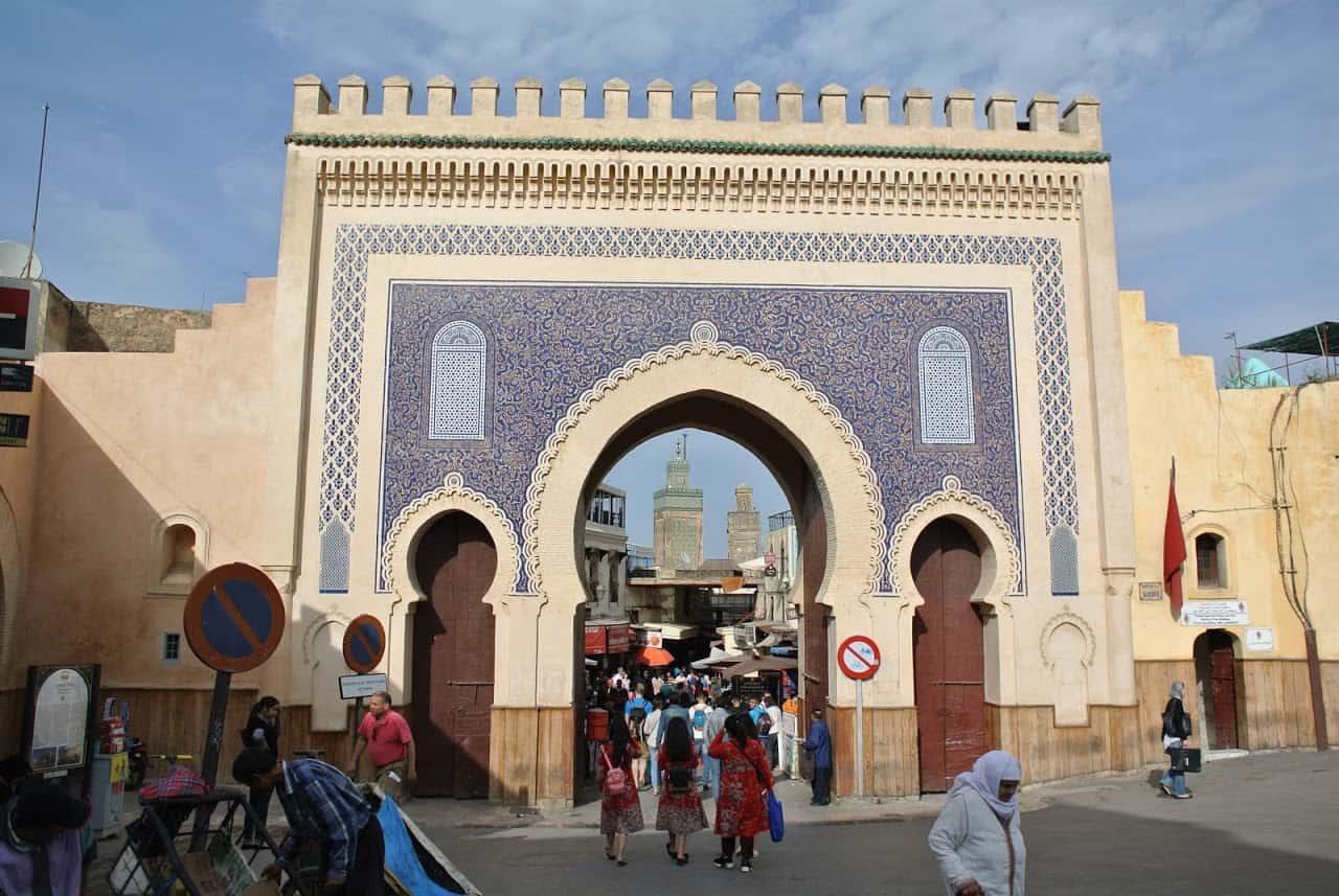 Ворота Баб Бужелуд Марокко Фес