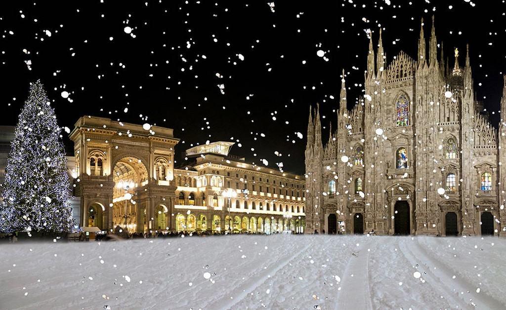 Милан зимой, Собор Дуомо (Новый год 2021)
