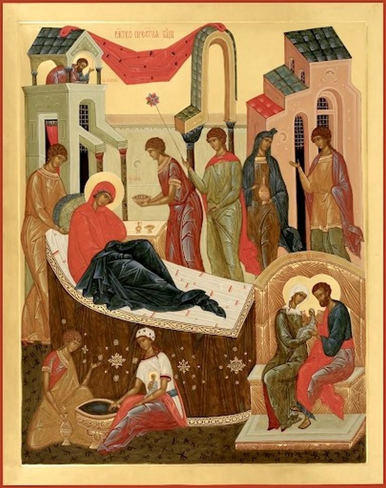 Рождение Девы Марии в семье праведных Иоакима и Анны