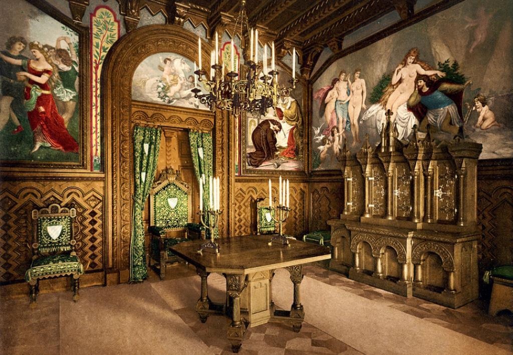 Дубовый кабинет короля Нойшванштайн