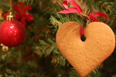 Сердечки  на ёлку - печенье на Новый год