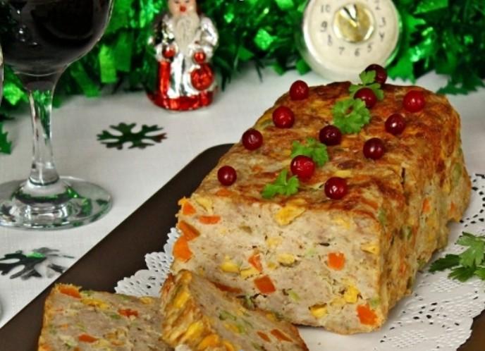 Рулет мясной «Новогоднее Конфетти»