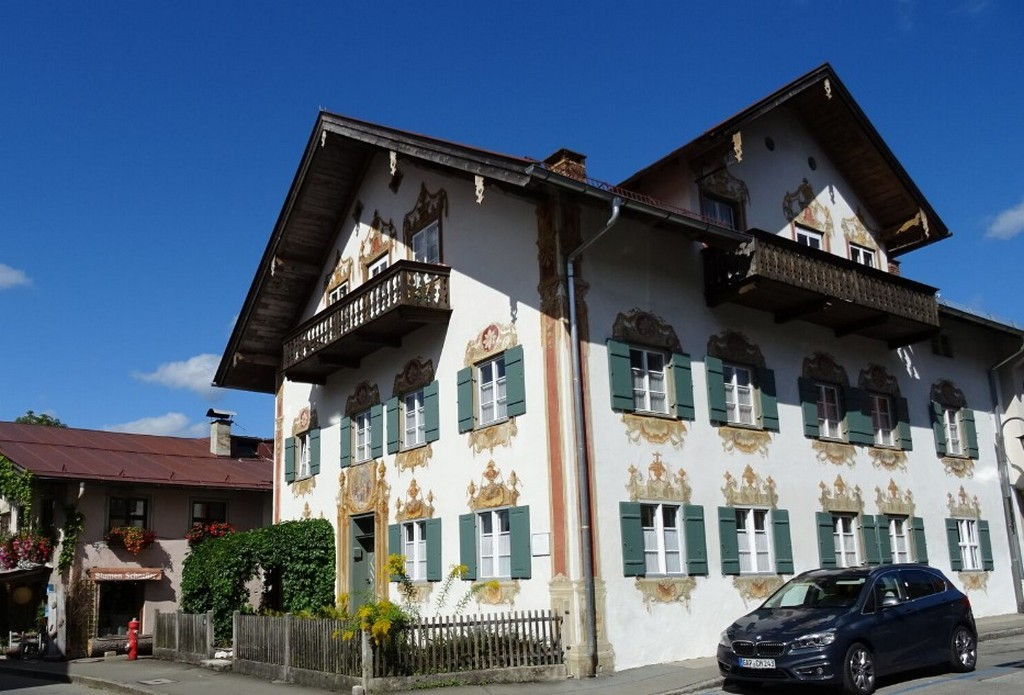 Дом врача (Doktorhaus), Обераммергау (Бавария - Германия)