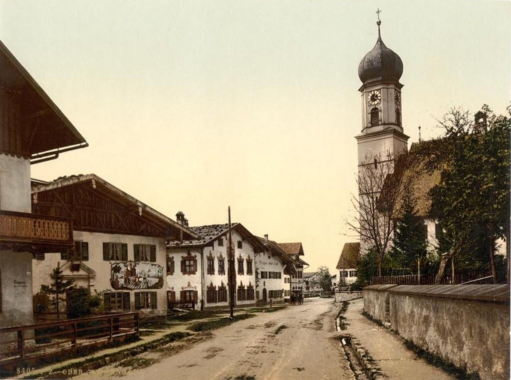 Деревня Обераммергау, 1890
