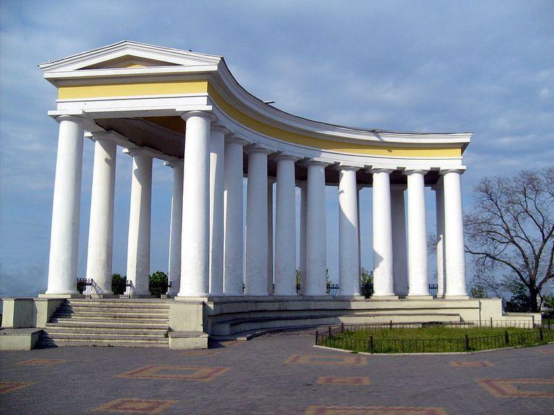 Колоннада на Приморском бульваре в Одессе - (Бельведер)