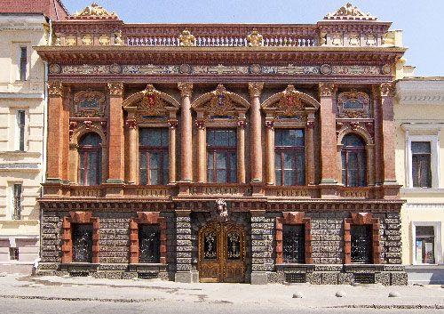 Фасад дома учёных в Одессе - Дворец графа Толстого