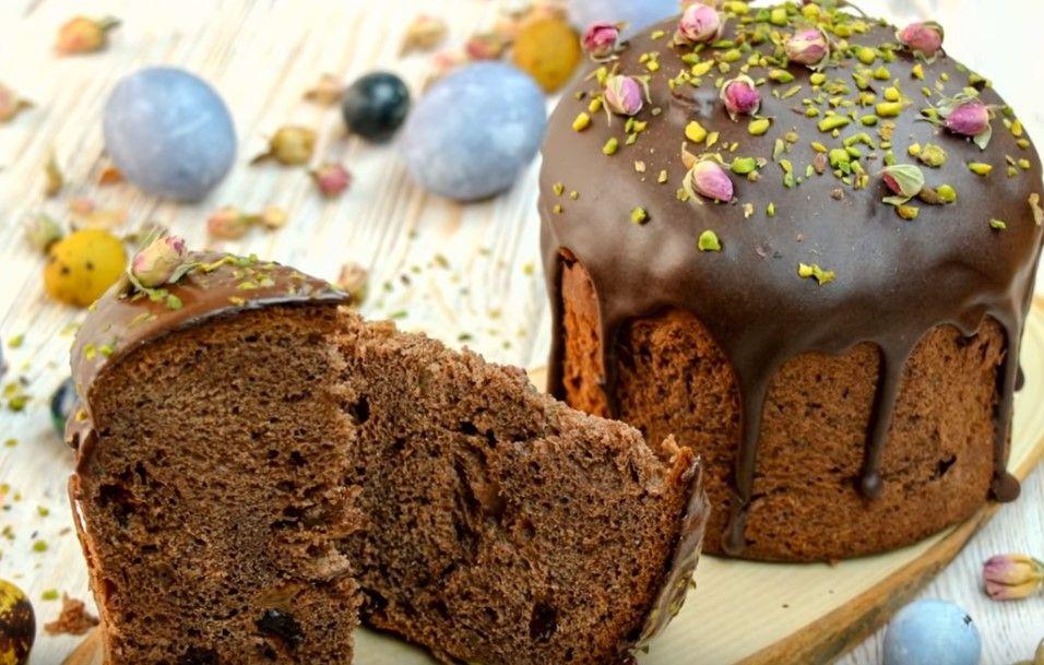Шоколадная паска и шоколадная глазурь