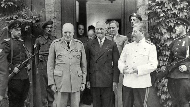Конференция с участием Сталина, Трумэна и Черчилля