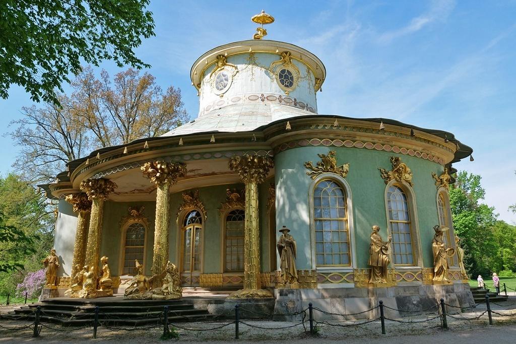 Китайский чайный домик в парке Сан-Суси, Потсдам – Германия - Chinesisches Haus im Park Sanssouci