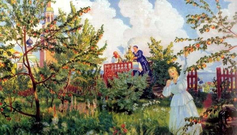 Яблоневый сад – Борис Кустодиев