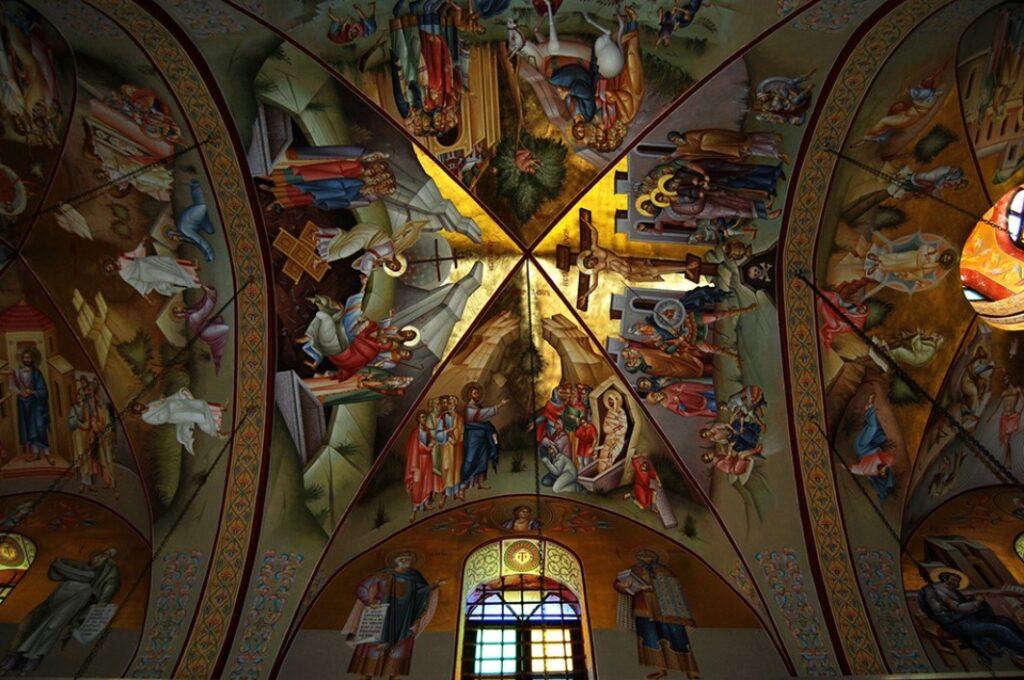 Фрески в Православном храме на горе Фавор