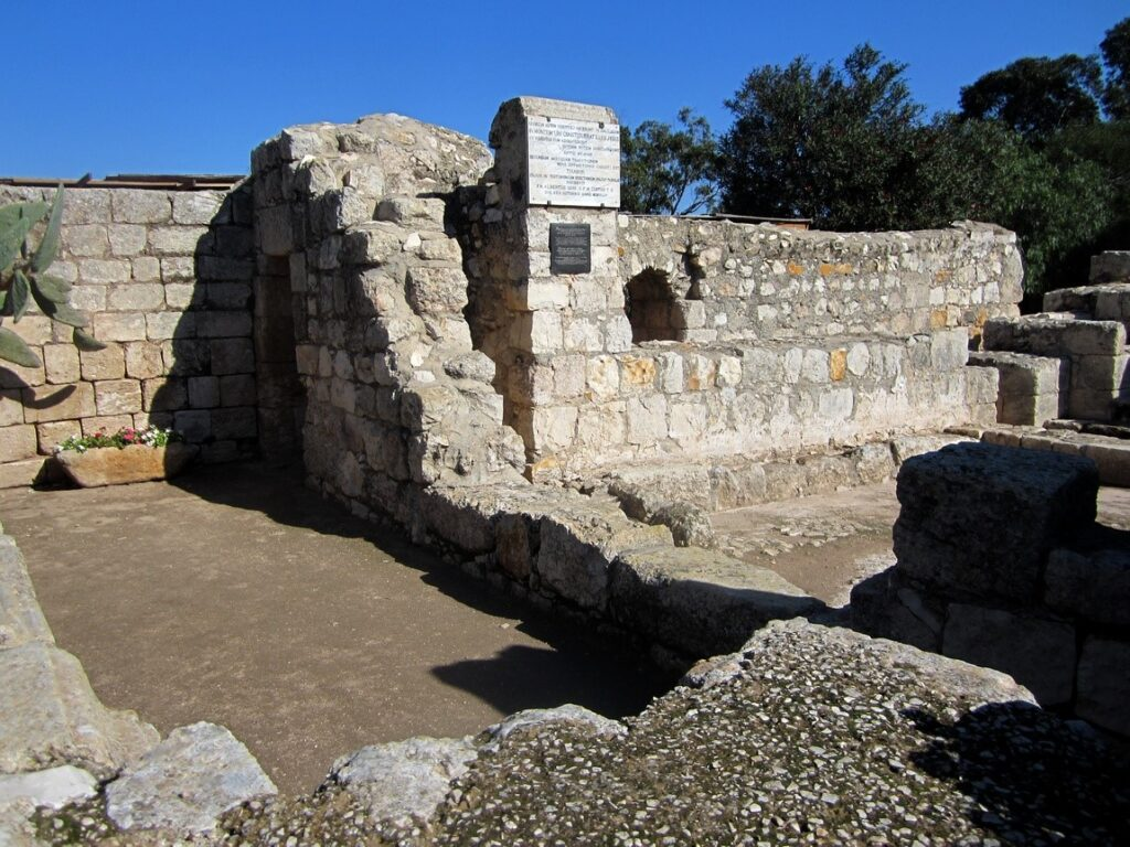 Византийский храм, руины на горе Фавор