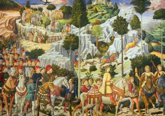 Шествие волхвов в Вифлеем - Беноццо Гоццоли