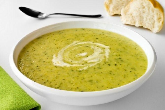 Суп – пюре из кабачка и мяса