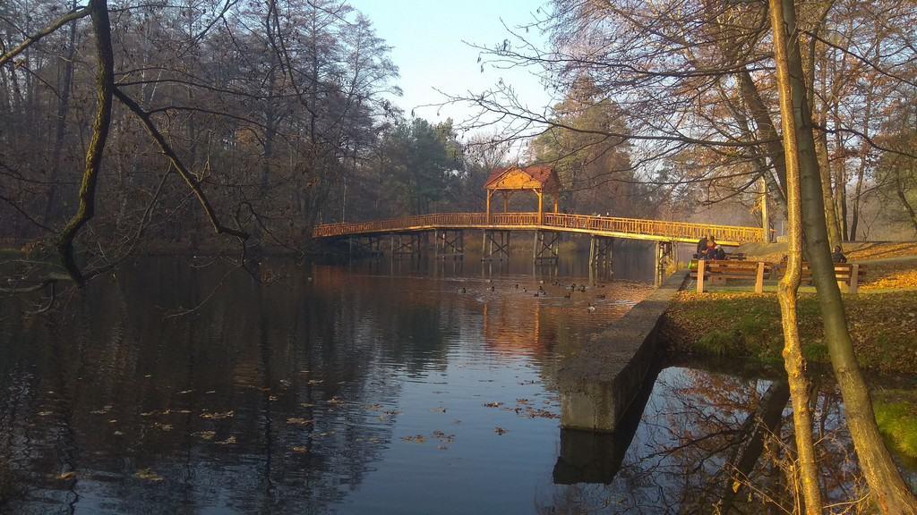 Озеро Геращиха с мостом, Пуща-Водица