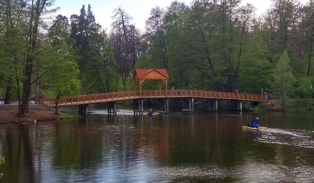 Мост через озеро Горащиха, Пуща-Водица