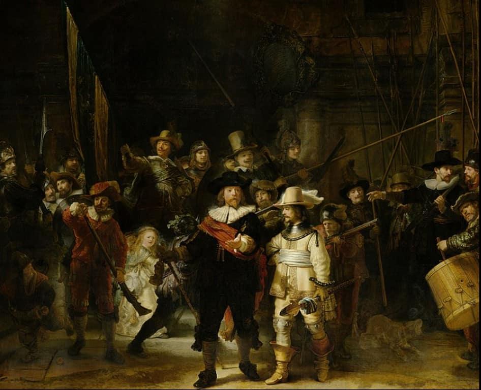 Рембрандт, «Ночной дозор» 1642 Амстердам музеи