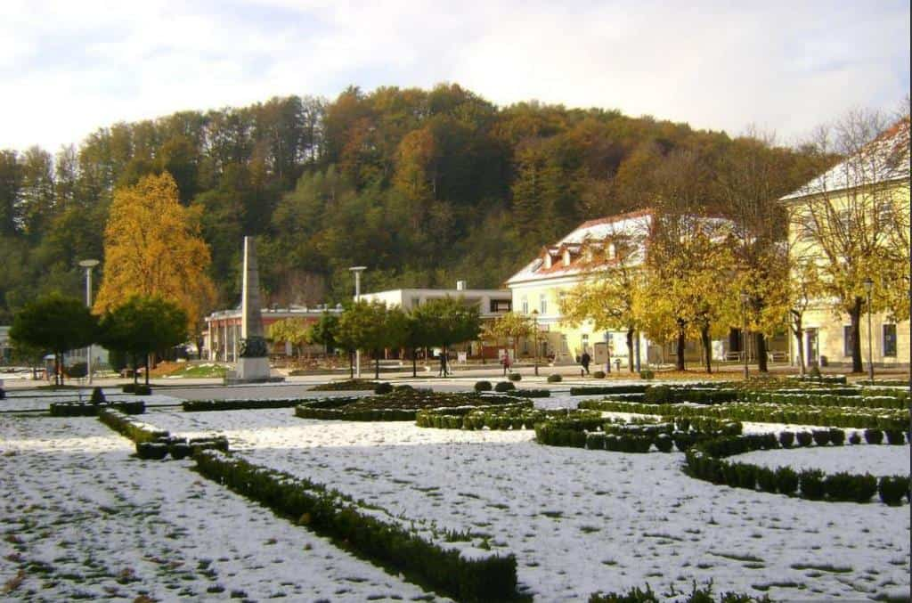 Курорт Рогашка-Слатина (Rogaška Slatina) зимой Рогашка-Слатина (Словения)