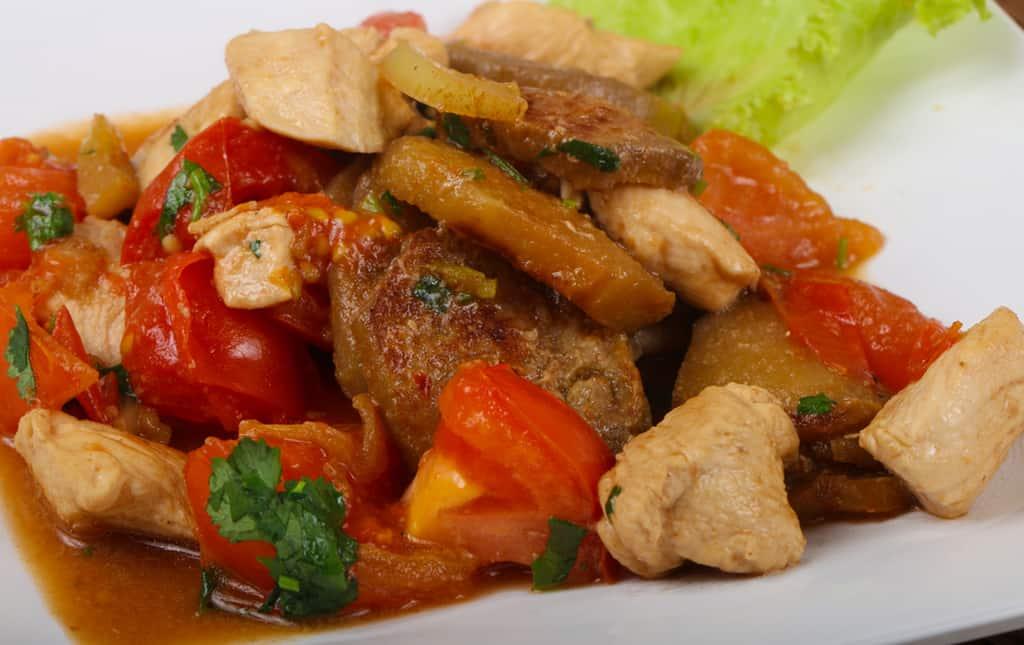Цыпленок по-римски - итальянские блюда