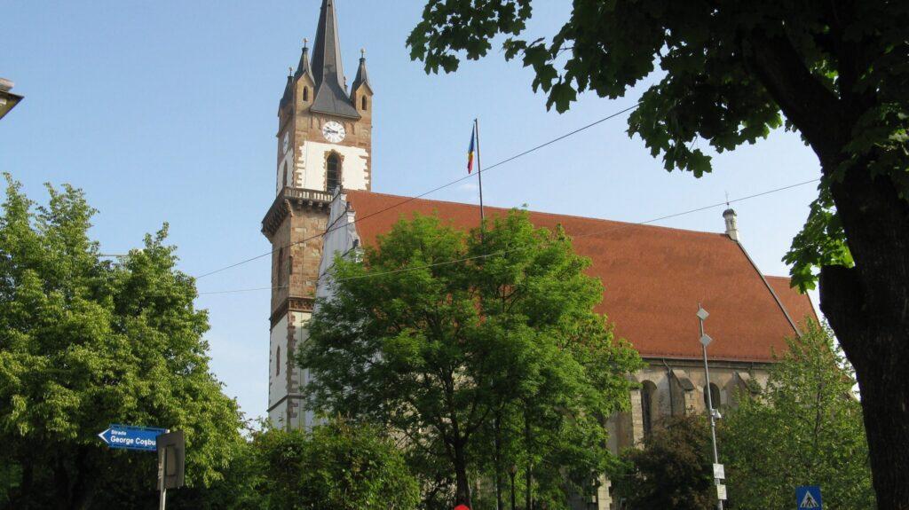 Лютеранская церковь города Бистрица, Румыния