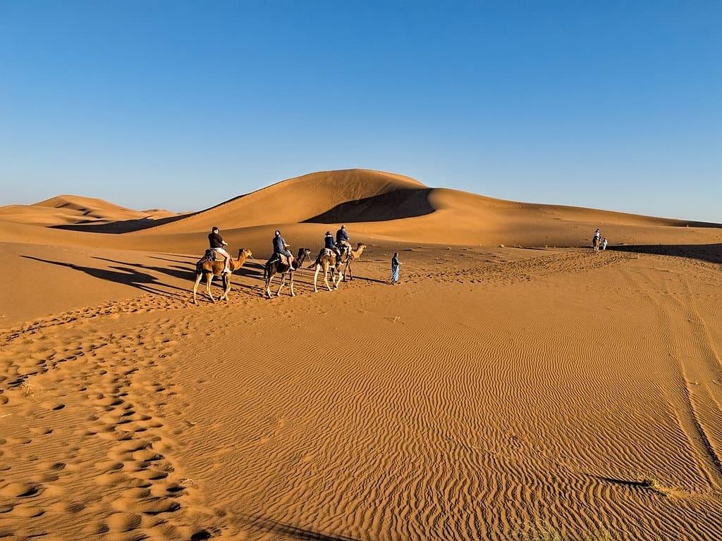 Песчаные дюны Эрг Шигаги, Марокко