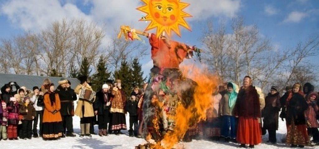Сожжение чучела – прощание с зимой