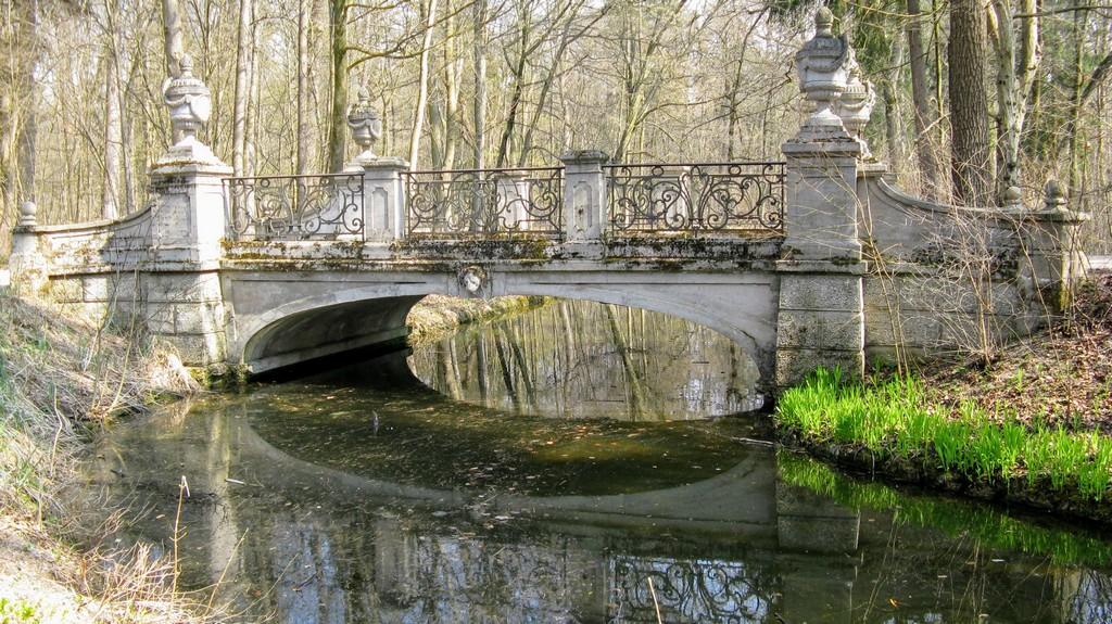 Мост через ручей Хартмансхофер в парке Нимфенбург