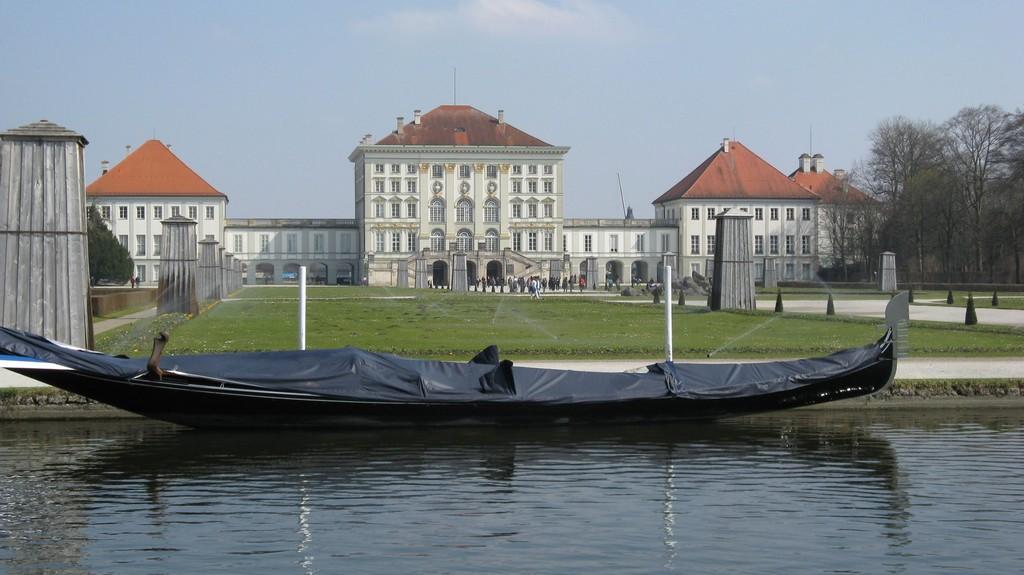 Гондола на главном канале в Нимфенбурге