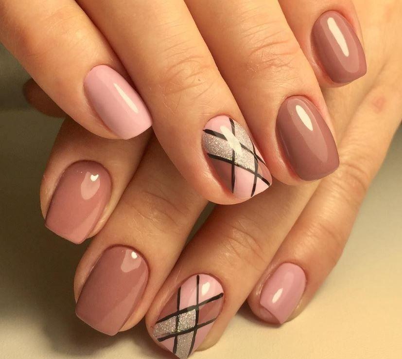 Весна, ногти - стиль геометрия весенний маникюр