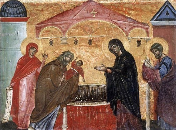 Сретение Господне. Гвидо да Сиена. 1270 г.
