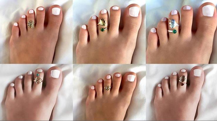 Кольца на пальцы ног - регулируемые