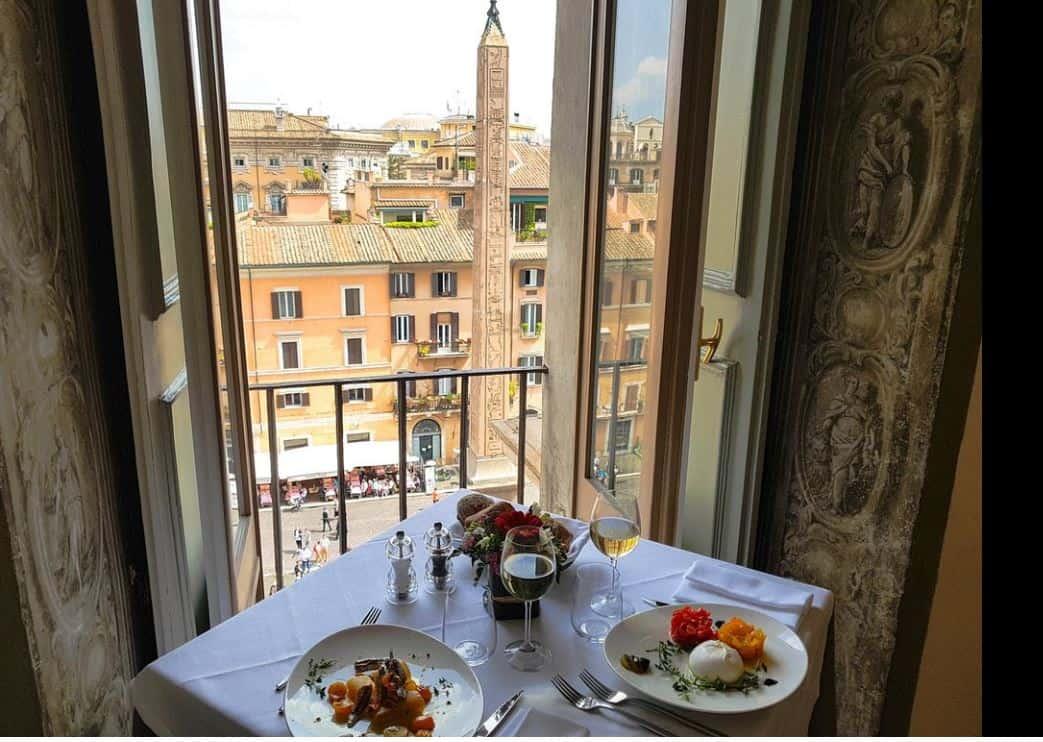 Ресторан в Риме с видом на площадь Навона