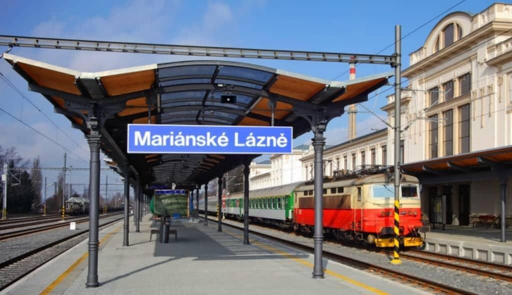 Железнодорожный вокзал, Марианске-Лазне