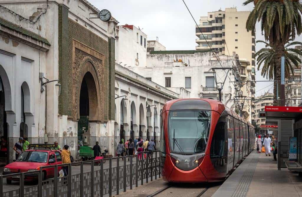 Трамвай в Касабланке, Марокко