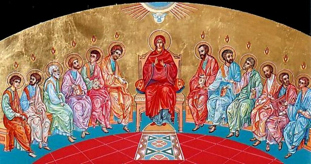 Икона - Сошествие Святого Духа на апостолов, Свято-Воскресенский храм (Ванкувер, Канада)