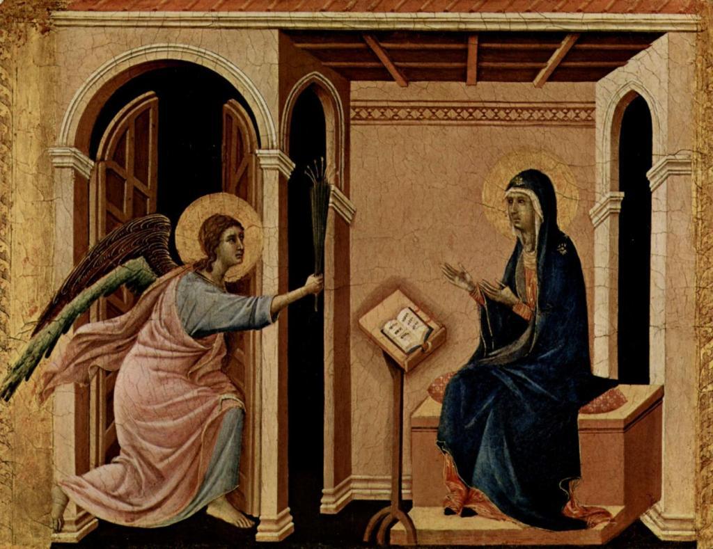 Архангел Гавриил приносит Деве Марии весть о предстоящей кончине