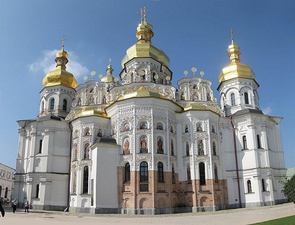 Успенский собор, основанный по указанию Антония и Федосия в 1072 г., Свято-Успенская Киево-Печерская лавра
