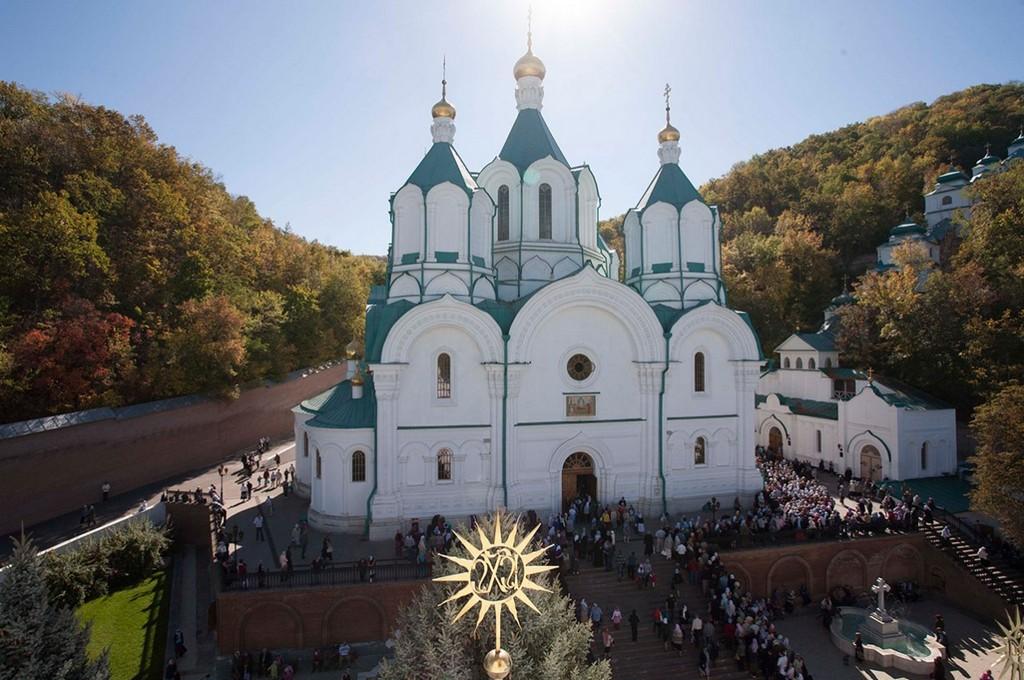 Успенский собор Свято-Успенской Святогорской лавры (1859—1868), г. Святогорск, Донецкая область
