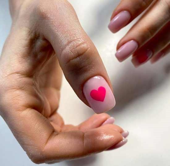 Розовое сердце для любимого