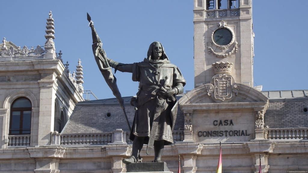 Вальядолид памятник Пласа Майор