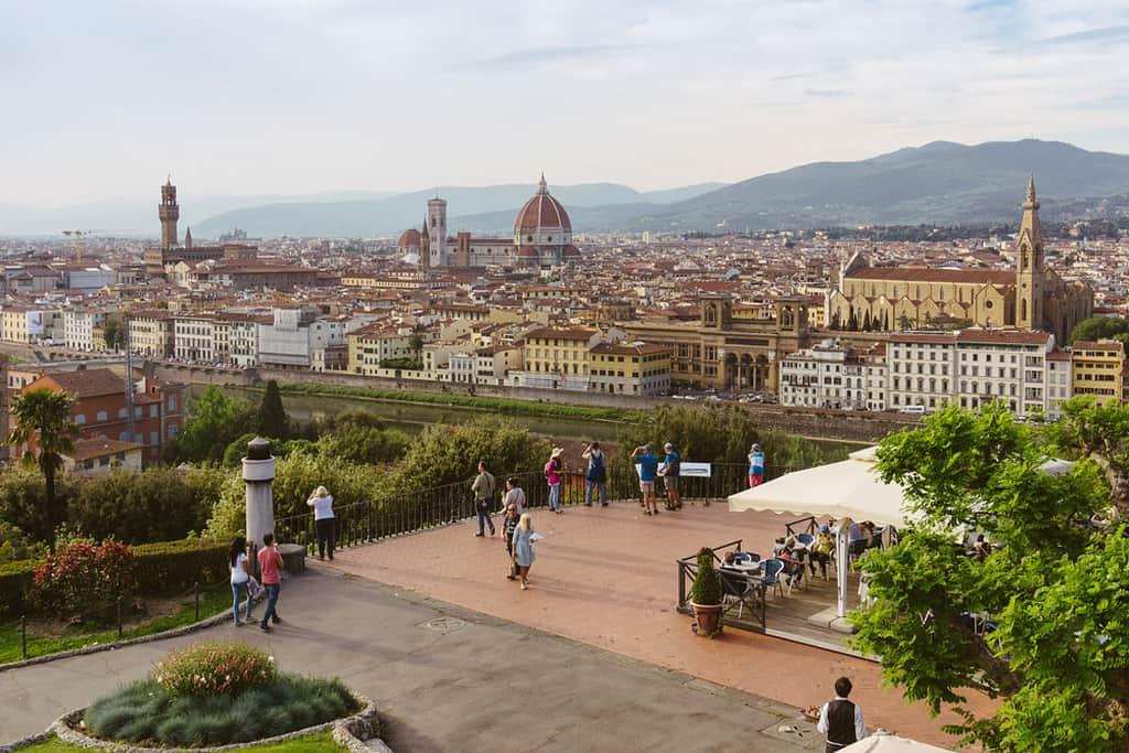 Вид с площади Микеланджело на город, Флоренция