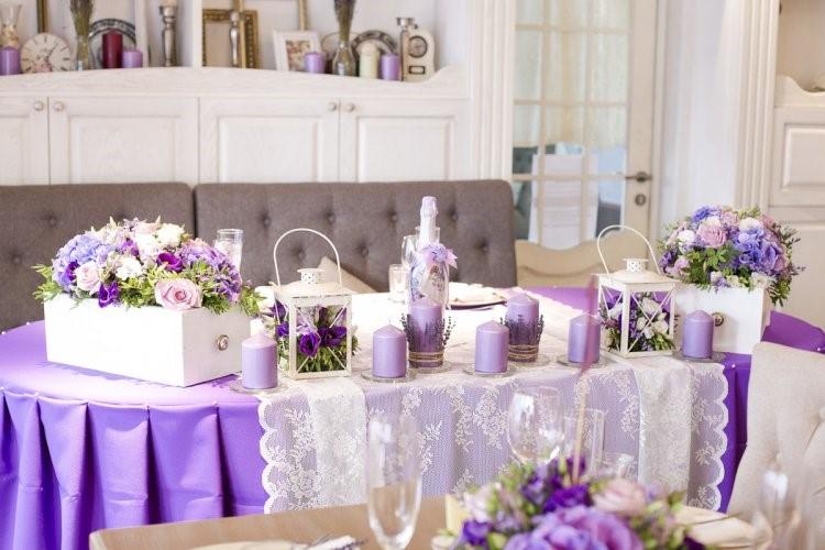 Лавандовая палитра свадьбы