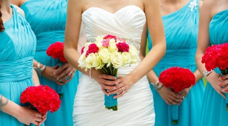 Лазурный цвет свадьбы