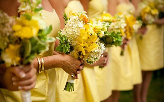 Цитрусовая палитра свадьбы