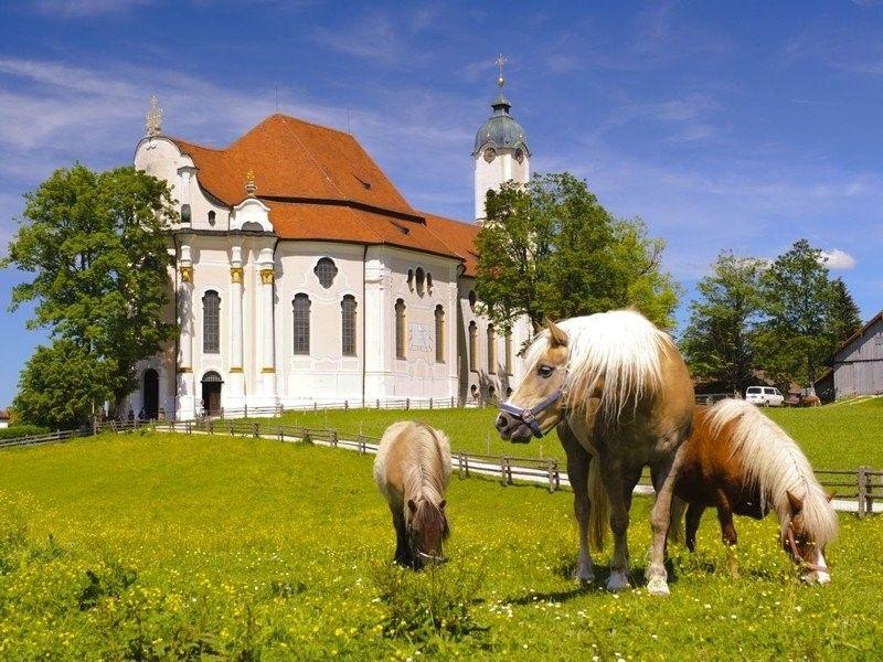 Паломническая церковь в деревне Вис - Визкирхе (Wieskirche)