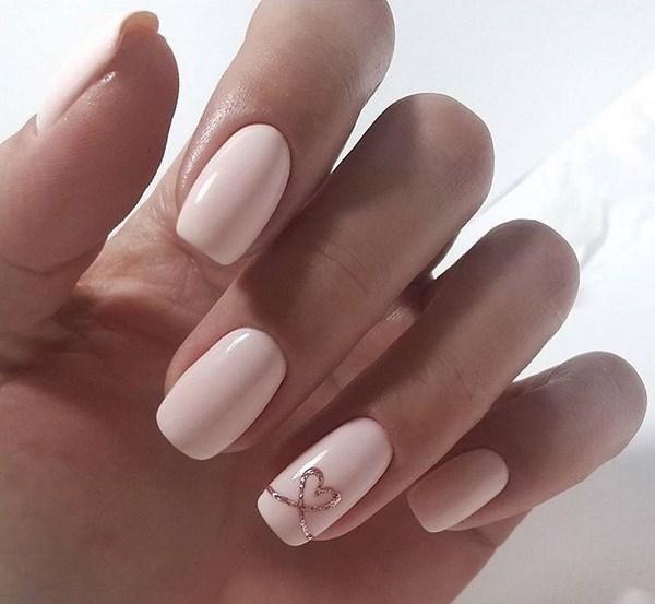 Февральская нежность - ногти на праздник